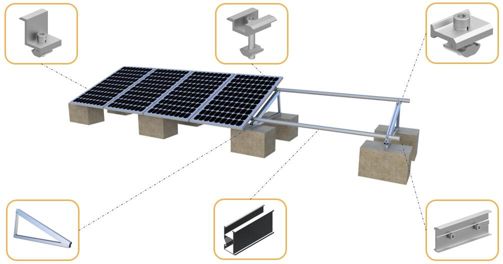 PV Solar Concrete Foundation